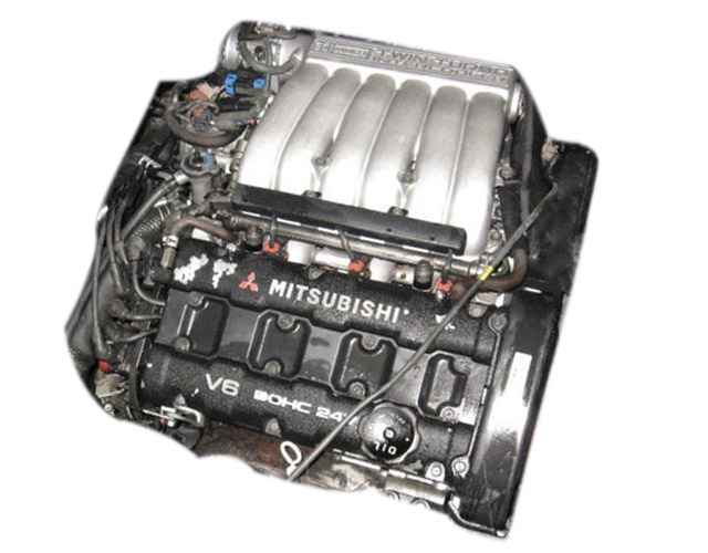 Engine Picture - Model 2 - MITSUBISHI GTO 3000 cc 90-96  V6 24 VALVE  TWIN-TURBO  JAP IMPORT  2 DOOR SPORTS