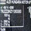 VIN Picture - Model 8 - AUDI A8 3700 cc 00-02    (94-02)  40V  SALOON