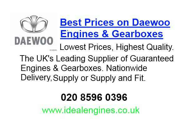 Reconditioned Daewoo Korando Engine for sale