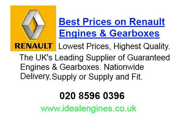 Recon Renault Scenic Engine for sale
